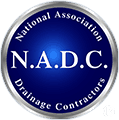 national association drainage contractors logo