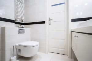 bathroom with saniflo toilet